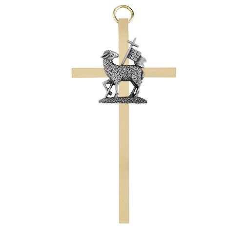 "4-1/4"" Reconciliation Brass Cross - 4/pk"