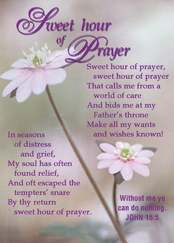 Verse Cards Sweet Hour/Prayer