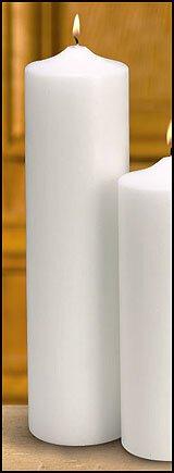 Plain White Pillar Memorial Candle
