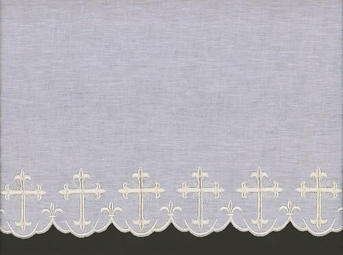 Cross Embroidered Altar Cloth