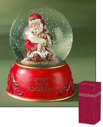 Adoring Santa Water Globe