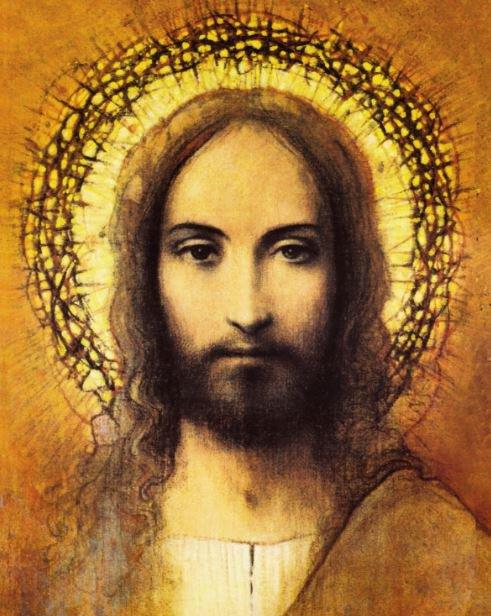 Print Head Of Christ