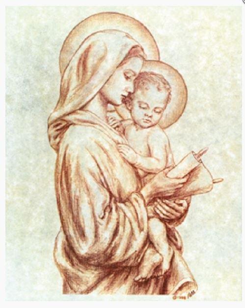 Print Madonna & Child