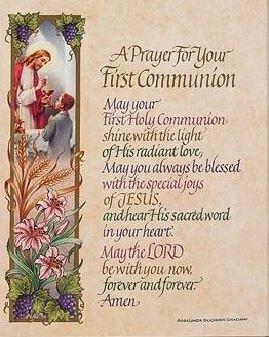 Print First Communion Prayer Boy