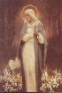 Print Madonna Lilies