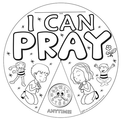 I Can Pray Color Wheel 24/Pk