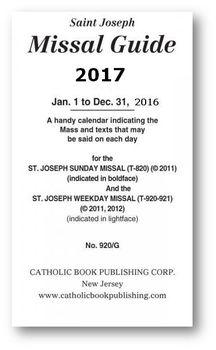 Saint Joseph Missal Guide 2017