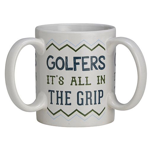 It's All in the Grip with Three Handles Golfer Mug