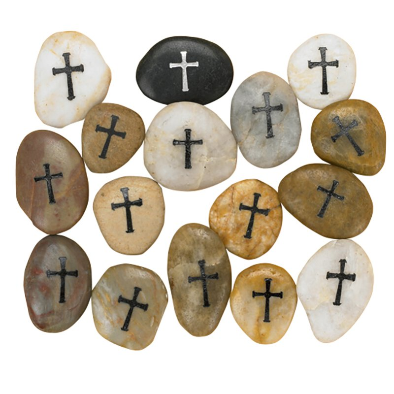 Cross Pocket Stones - 12/PK