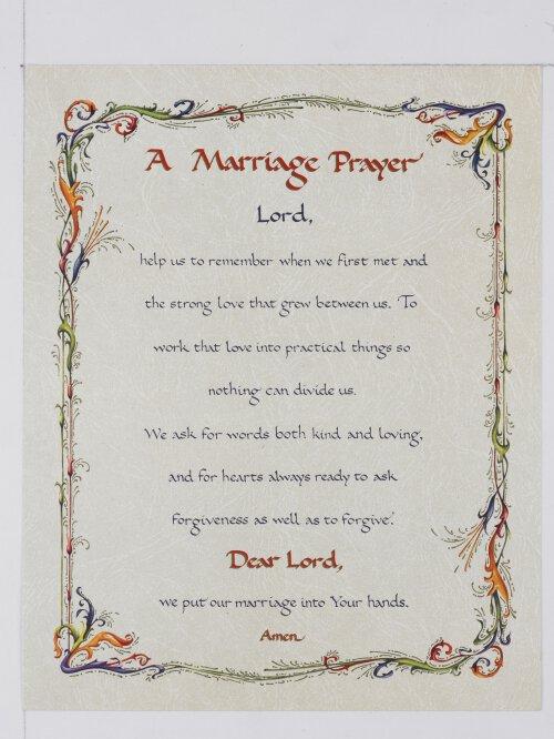 Print Marriage Prayer