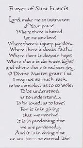 Print Prayer Of Saint Francis