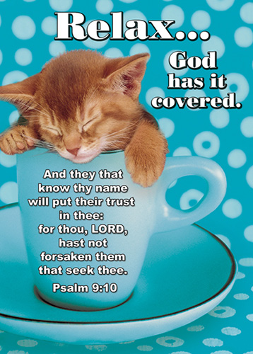 Verse Cards Relax God has it Covered