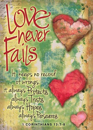 Verse Cards Love Never Fails