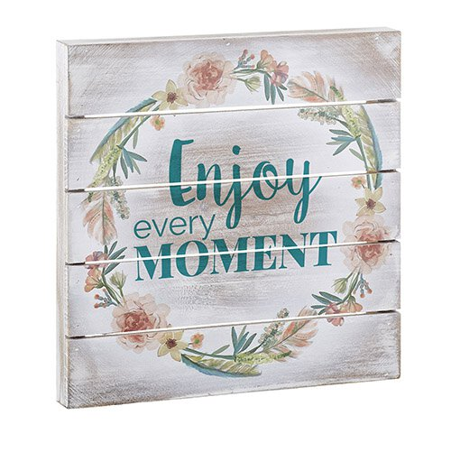 Enjoy the Moment- Wood Pallet Sign