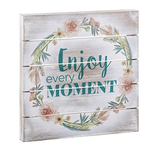 Enjoy the Moment- Wood Pallet Sign