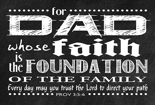 Pass It On: Dad's Faith is the Foundation