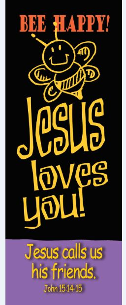 Bible Basics Bookmark - Bee Happy! Jesus Loves You! - 10/pk