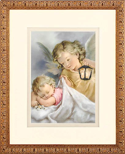 "Guardian Angel Lamp 8"" x 10"" Framed Print"
