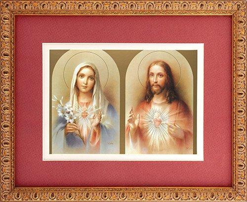 The Sacred Hearts Framed