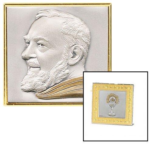 St Pio Gold Enamel