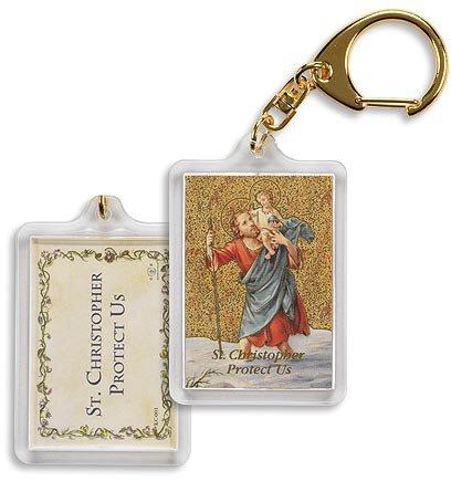 Saint Christopher/ Protect Us Key Chain