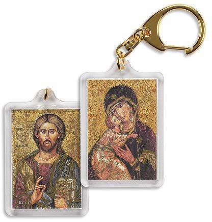 Our Lady of Vladimir/ Christ the Teacher Key Chain