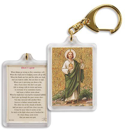 Saint Jude/ Don't Quit Key Chain