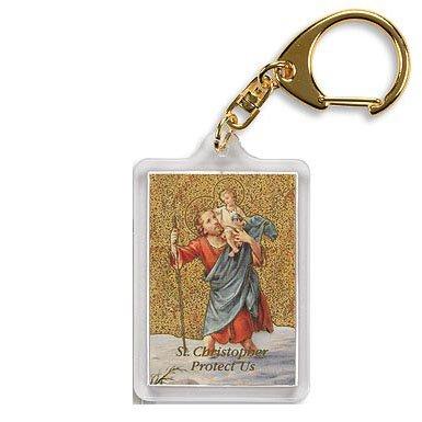 Saint Christopher/ Motorist's Prayer Key Chain