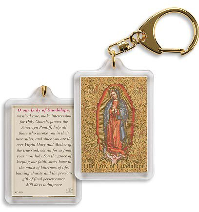 Our Lady of Guadalupe/ Mystical Rose Key Chain