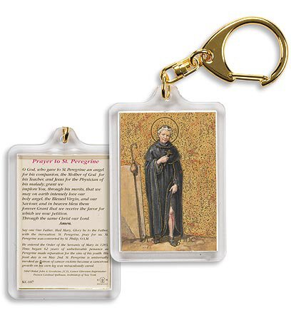 Saint Peregrine/ Prayer to St Peregrine Key Chain