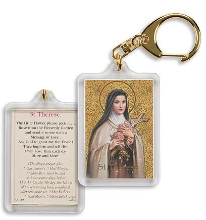 Saint Therese/ Pick Me a Rose Key Chain