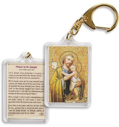 Saint Joseph/ 1800 Year-Old Prayer Key Chain