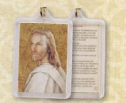 Head of Christ/ Footprints Prayer Key Chain
