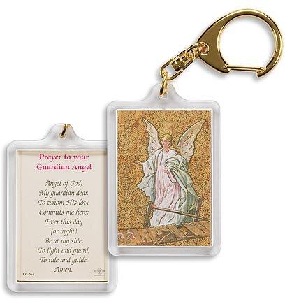 Angel on Bridge/ Guardian Angel Prayer Key Chain