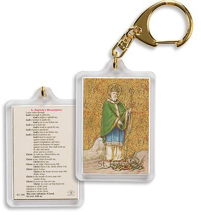 Saint Patrick/ St Patrick's Breastplate Key Chain