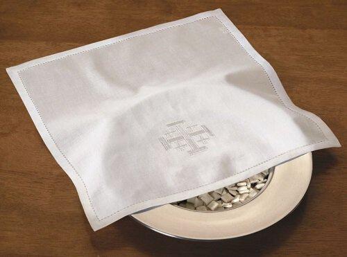 Bread Plate Napkin Embroidered Jerusalem Cross