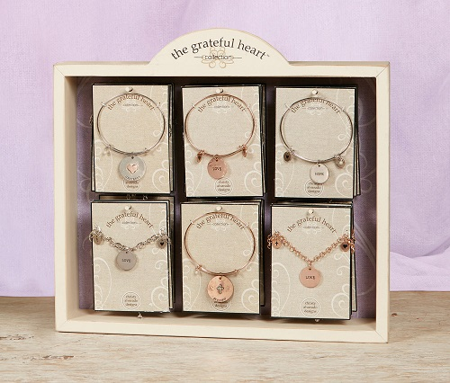 Grateful Heart Bracelet Empty Display - (Shown Filled)