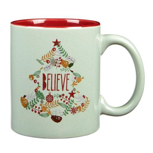 Vintage Christmas Mug - Believe