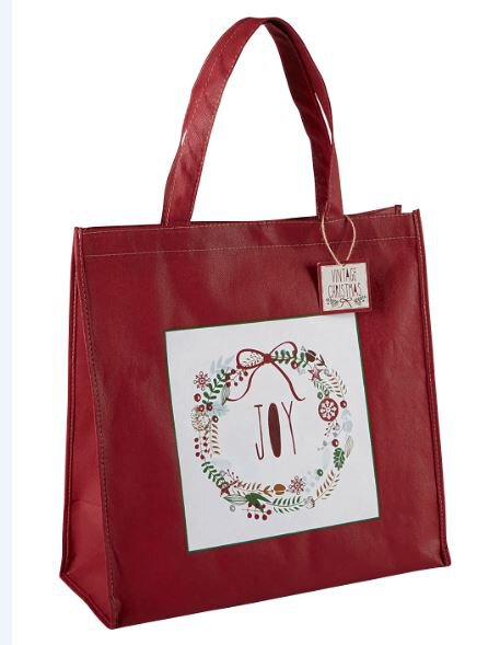 Vintage Christmas Tote - Joy