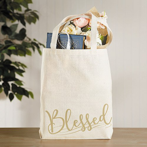 Blessed Tote Bag with Inside Pocket - 12/pk