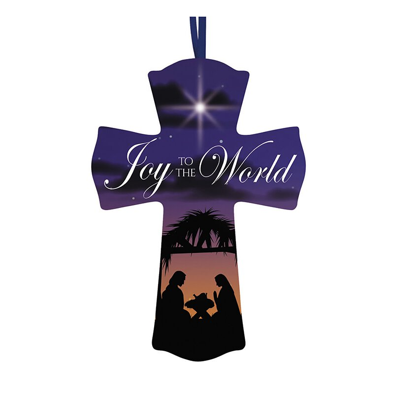 Joy to the World Christmas Cross - 12/pk