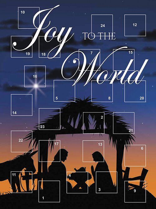 Joy to the World Advent Calendar - 12/pk