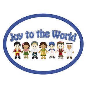 Joy to the World Oval Magnet - 36/pk