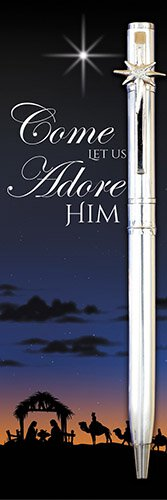 Come Let us Adore Him Pen with Bookmark Set -12/pk