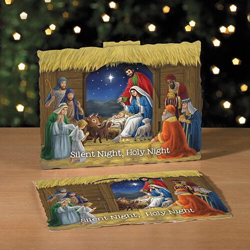 Silent Night, Holy Night 3-D Stand Up Nativity - 50/pk