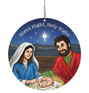 Silent Night, Holy Night Ornament - 12/pk