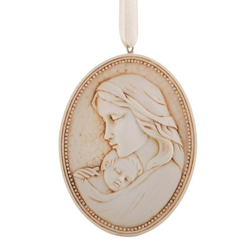 Madonna and Child Ornament - 12/pk