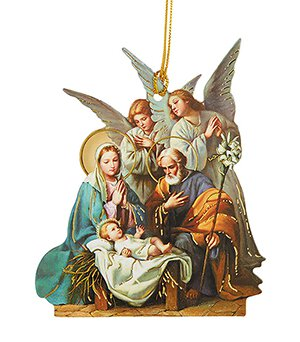 Blessing Angels Laminated Paper Nativity Ornament - 50/pk