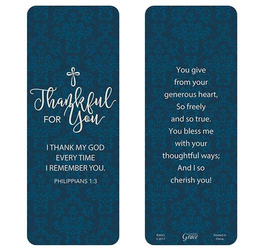 Thankful for You Jumbo Bookmark - 36/pk
