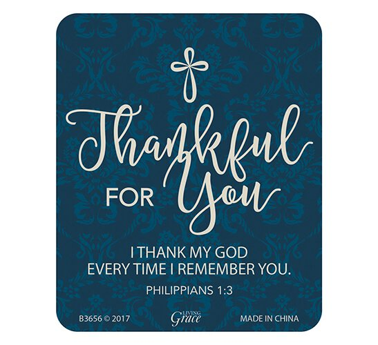 Thankful for You Magnet - 24/pk